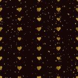 Golden  hearts seamless pattern Royalty Free Stock Photos