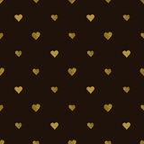 Golden  hearts seamless pattern Stock Photography