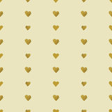 Golden  hearts seamless pattern Royalty Free Stock Images