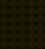 Golden hearts, seamless periodic pattern, love symbol  background. Laser beams Royalty Free Stock Image