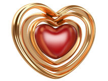 Golden hearts shape Royalty Free Stock Photos