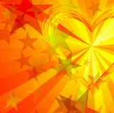 Golden hearts and stars. Backgrounds Royalty Free Stock Photo