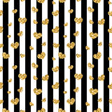 Golden hearts stripes seamless pattern Royalty Free Stock Images