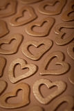 Golden Hearts - Valentine background Royalty Free Stock Photo