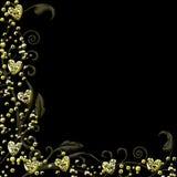 Golden Hearts Vector Stock Photography