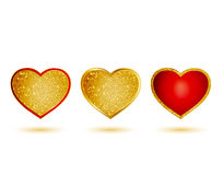 Golden hearts Royalty Free Stock Photos