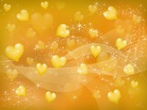 Yellow hearts Stock Photos