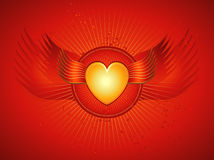 Golden heartvector illustratio Royalty Free Stock Photography