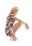Golden heels pin-up #2 Stock Image