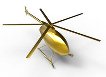 Golden helicopter Royalty Free Stock Photos