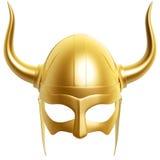 Golden helmet stock illustration