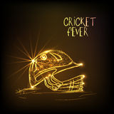 Golden helmet for Cricket Fever. Royalty Free Stock Photography