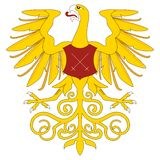 Golden heraldic eagle Stock Photography