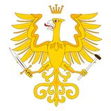 Golden heraldic eagle Stock Photo