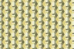 Golden Hexagon Ornament stock illustration