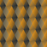 Golden hexagonal patterns with 3d illusion, seamless luxurious background in art deco style Stock Image