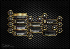 Golden Hexagons Royalty Free Stock Images