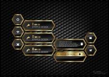 Golden Hexagons Stock Images