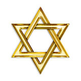 Golden hexagram Stock Photos