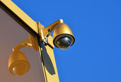 Golden Hi-tech dome type camera Stock Photography