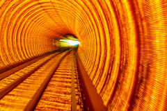 Golden Highway Rail Abstract Underground Railway Bund Shanghai Royalty Free Stock Images