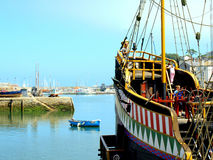 Golden Hind, Brixham Harbour, Devon. Royalty Free Stock Photos