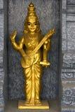 Golden Hindu Deity Stock Photo