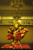 Golden Hindu God Ganesh Royalty Free Stock Image