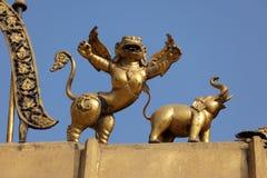 Golden hindu religious statue Stock Image
