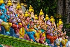 Golden Hindu statue Muragan ,Batu Caves Temple Stock Photos