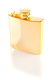 Golden Hip Flask Royalty Free Stock Image