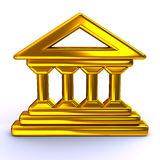 Golden historical building icon Royalty Free Stock Image
