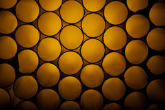 Golden hive structure. Made of tubular drinking straws Stock Photos