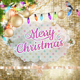 Golden Holiday Abstract Glitter Background. EPS 10 Stock Photography
