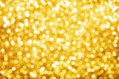 Golden holiday background. Christmas lights Royalty Free Stock Image