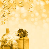 Golden holiday background. Golden Christmas and New Year holiday background Stock Photos