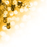Golden holiday background. Golden Christmas and New Year holiday background Royalty Free Stock Images