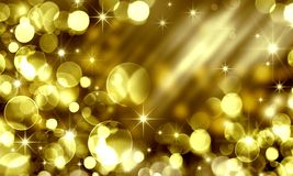 Free Golden Holiday Bokeh Background, Yellow Circles, Holiday, Happy Royalty Free Stock Image - 124648756