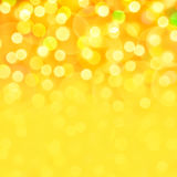 Golden holiday bokeh background. Golden holiday festive bokeh background, place for holiday text Royalty Free Stock Photos