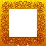 Golden holiday frame Stock Image