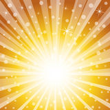 Golden Holiday Magic Background. Royalty Free Stock Photography