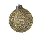 Golden Holiday Ornament Stock Images