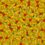 Golden holly background Stock Photo