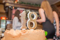 Birthday party 18 stock photo