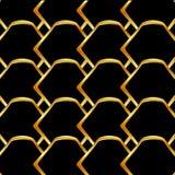 Golden honey cell background Stock Image