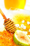 Golden honeycomb Royalty Free Stock Photos