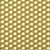 Golden honeycomb. Abstract background. 3D. Illustration  on white background Royalty Free Stock Images