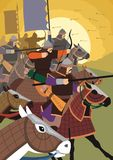 The Golden Horde. Attacks Royalty Free Stock Image