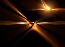 Golden horizon stretching off to infinity. Abstract illustration of golden horizon stretching off to infinity Royalty Free Stock Photos