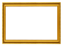 Golden horizontal frame Stock Photos